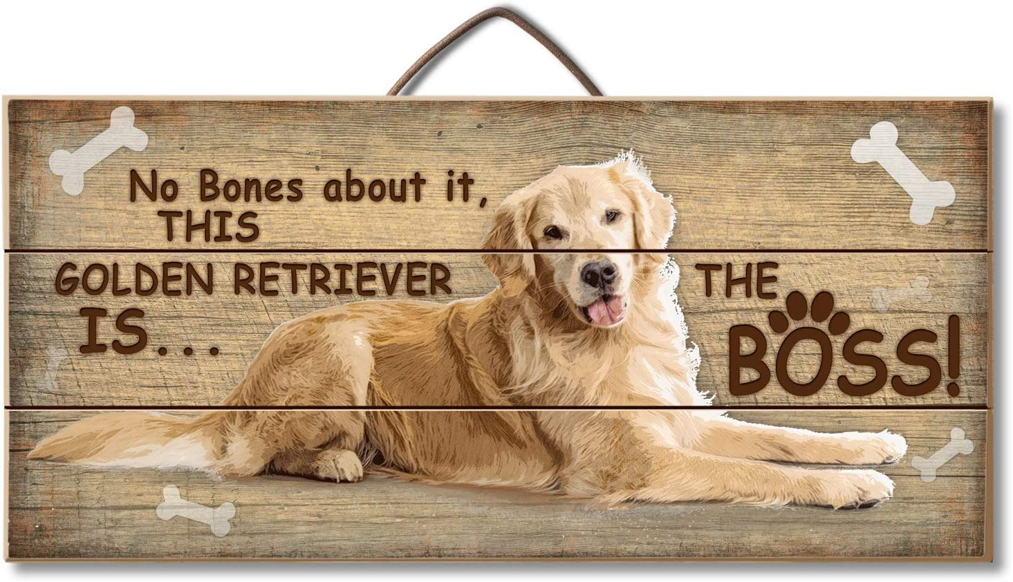 NEW MADE USA PINE WOOD SIGN ART NO BONES ABOUT IT THIS DOG IS BOSS DASCHUND