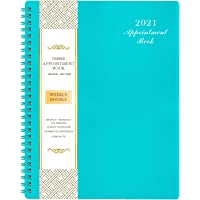 """2021 Weekly Appointment Book & Planner - 2021 Daily Hourly Planner with Twin-Wire Binding, 8"""" x 10"""", Jan 2021 - Dec 2021…"""