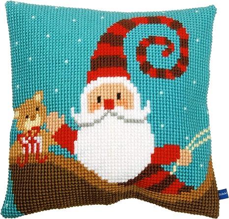 Vervaco - Kit para cojín de Punto de Cruz Happy Santa ...