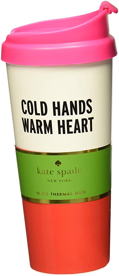 Kate Spade New York Thermal Mug Cold Hands Warm Heart  sc 1 st  Amazon.com & Amazon.com | Kate Spade New York Thermal Mug Cold Hands Warm Heart ...