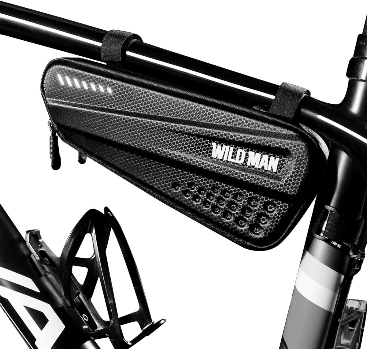 BTNEEU Bolsa Bicicleta Cuadro Impermeable Bolsa Triangular Bicicleta Capacidad 1,2L, Bolsa de Cuadro de Tubo Superior de Bicicleta Bolsa Bici Cuadro para Bicicleta de Carretera Montaña