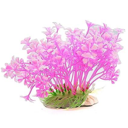 Wicemoon rosa acuario pecera pecera artificio hierba acuario decoración agua hierbas ornamento planta pecera tanque fresca
