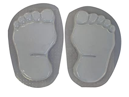 Footprints Bare Feet 11 Inch Stepping Stone Concrete Plaster Mold Set 1280