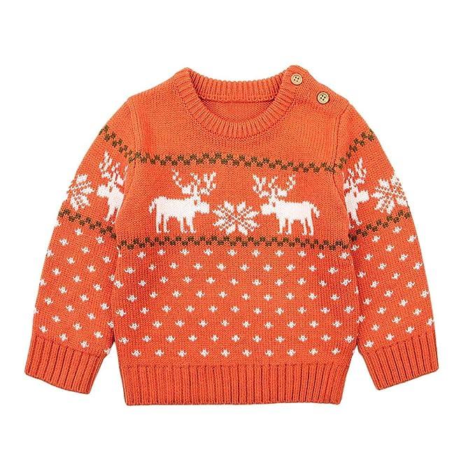 POLP Niño Regalo Navidad Bebe Pijama Rojo Navidad Bebe Disfraz Ropa Invierno Bebe niña Unisex Manga