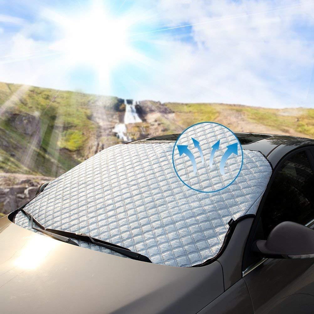 Universal Sonnenschutz Auto Sonnenblende Frontscheibe Dick Sonnenschirm Silber