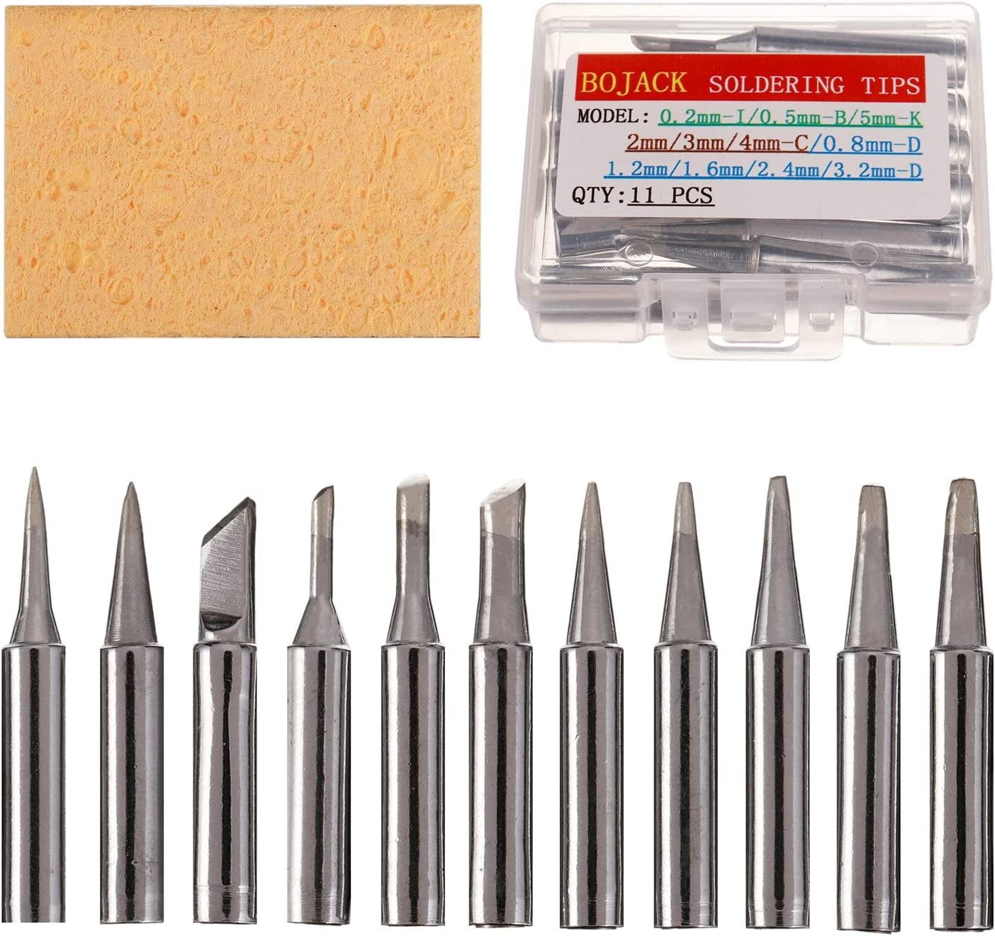 11Pcs Copper Solder Iron Tips 900M-T Lead Soldering Welding Tool Set Kit