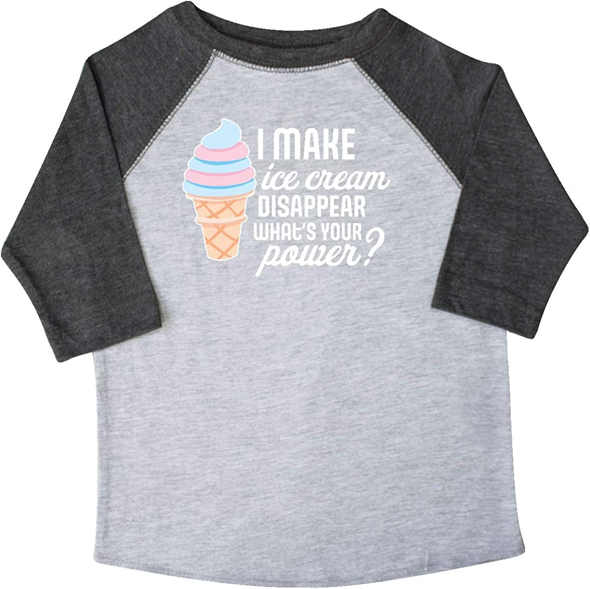 inktastic I Make Ice Cream Disappear Whats Your Power Toddler T-Shirt