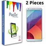 POPIO Tempered Glass Screen Guard Screen Protector for Lg G6 (2 Pieces)