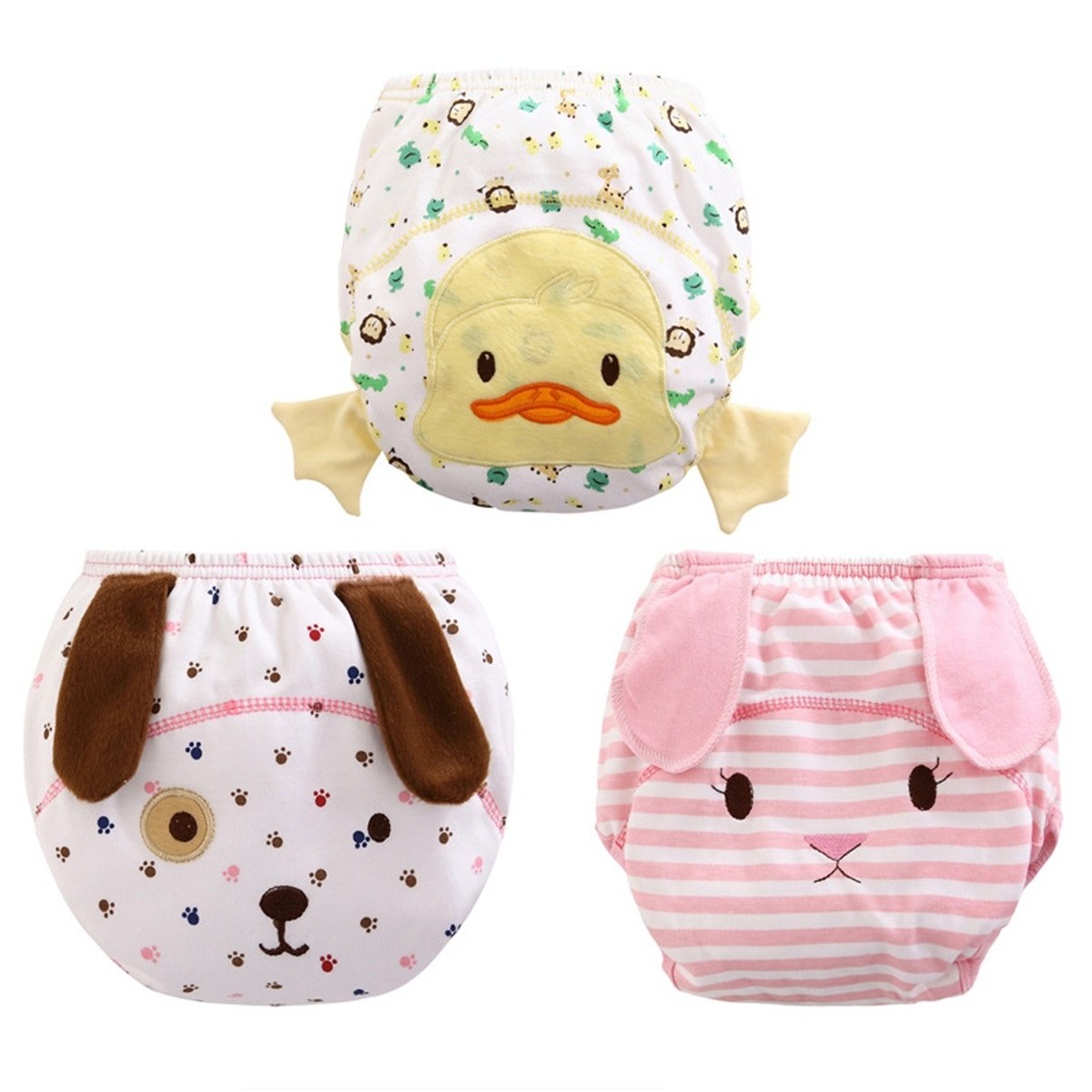 BIG ELEPHANT Unisex-Baby Toddler 3 Pack Cute Training Pants Underwear Assortment B93 product image