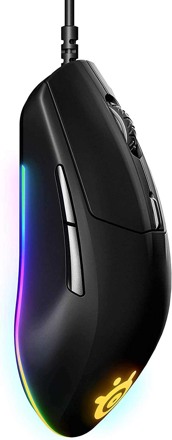 SteelSeriesRival 3 Gaming Mouse - 8,500 CPI TrueMove Core Optical Sensor - 6 Programmable Buttons - Split Trigger Buttons - Brilliant Prism RGB Lighting