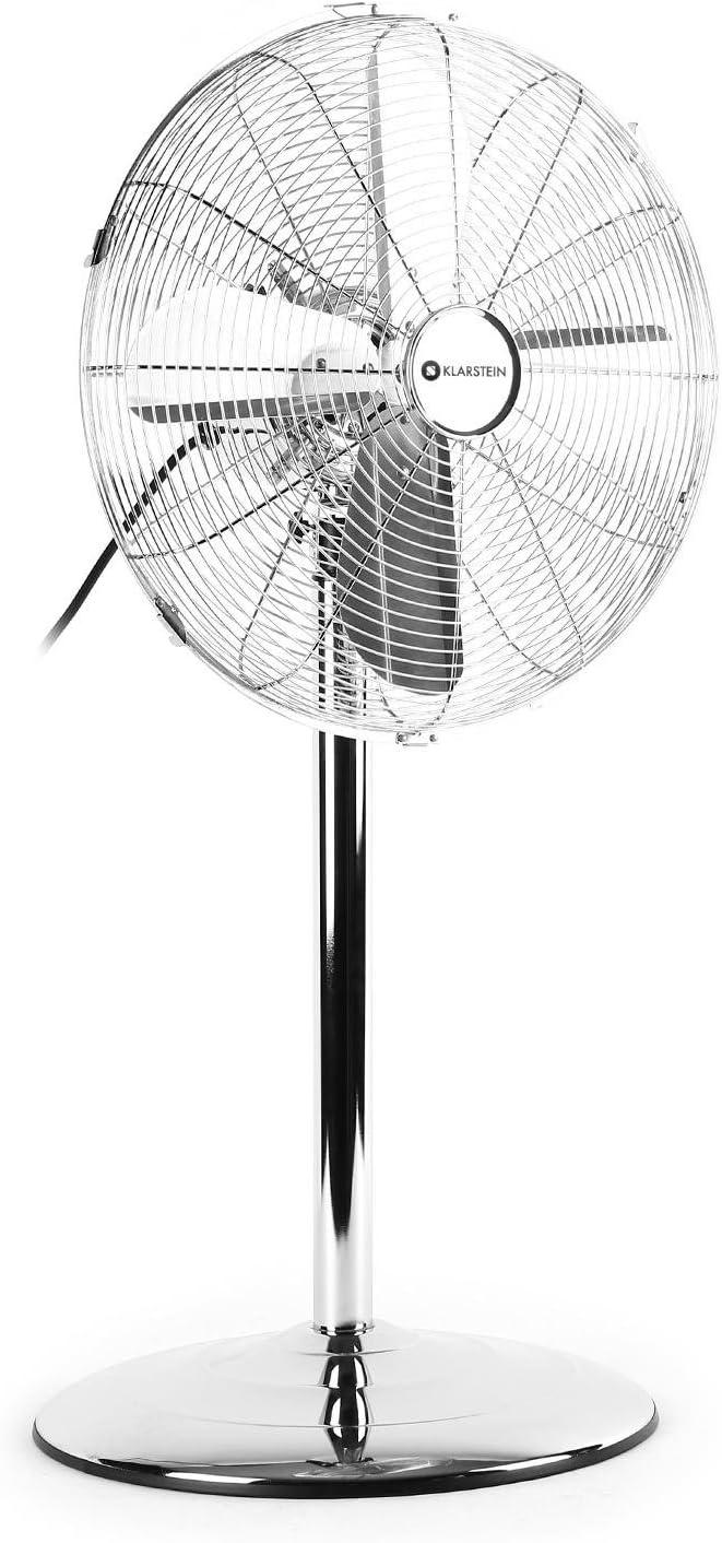 Klarstein Metal Blizzard Ventilador de suelo, VTS2-Full-Metal Bliz: Amazon.es: Bricolaje y herramientas