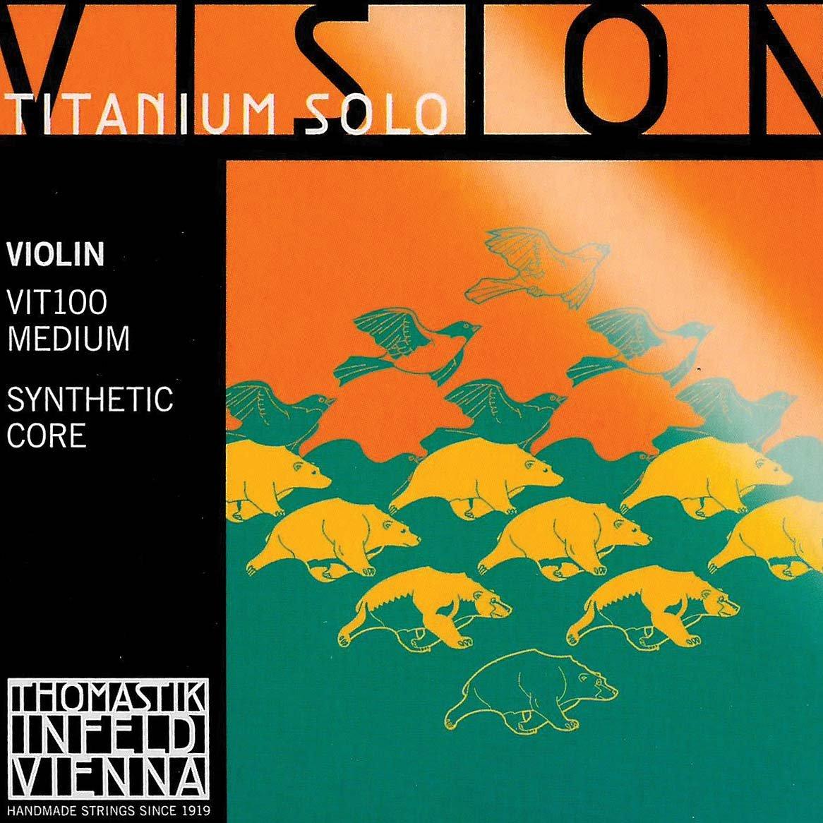 Thomastik Vision Titanium Solo 4/4 Violin String Set - Medium Gauge BHBU0503A802