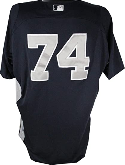 finest selection 1cae6 eff7c Doug Bernier Jersey - NY Yankees 2012 Game Worn #74 Spring ...