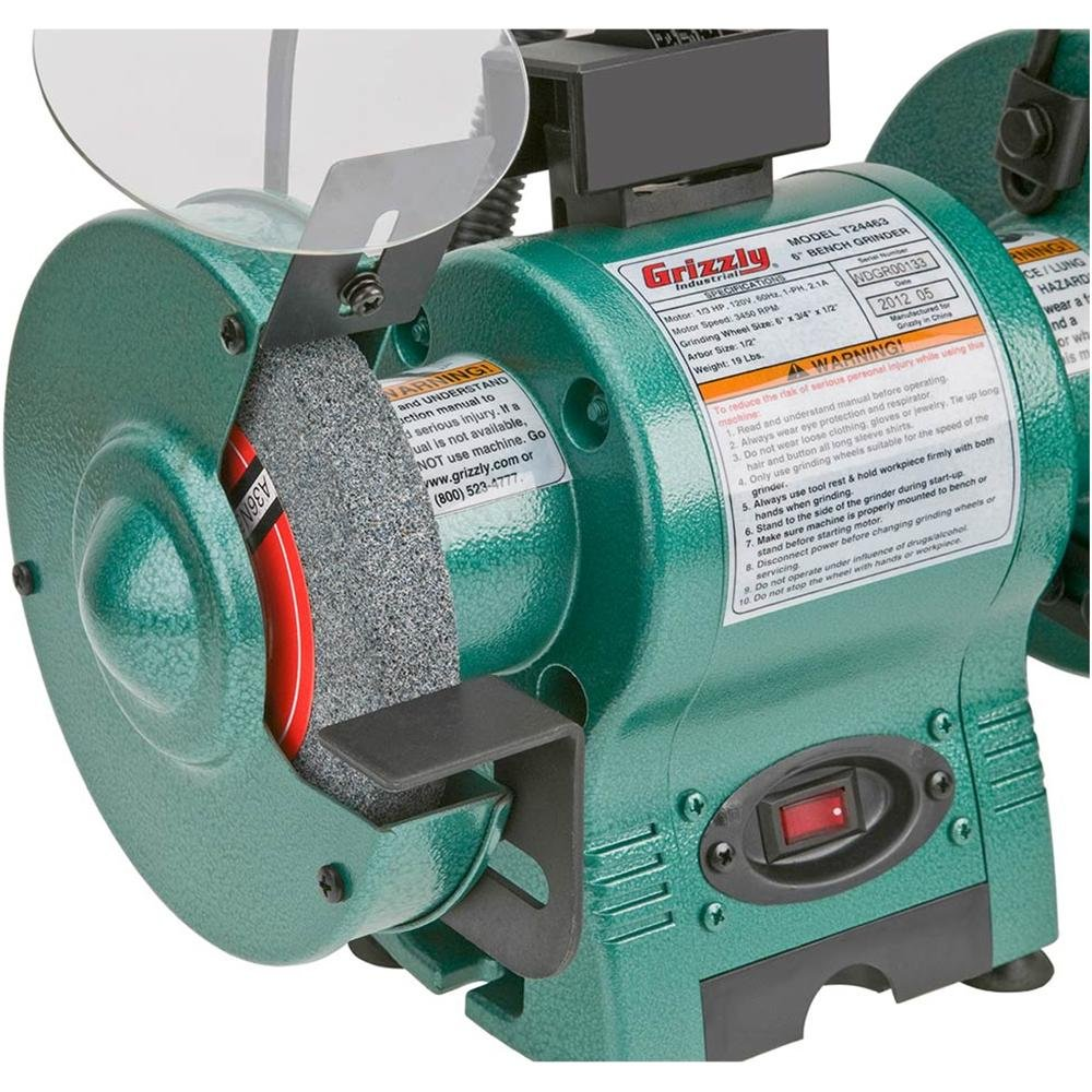 Grizzly T24463 634; Bench Grinder with Work Light - - Amazon.com