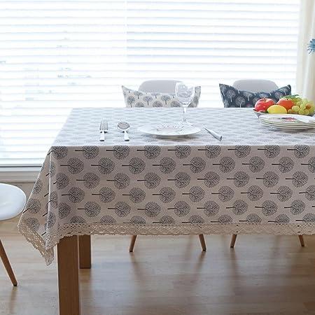 Longless Pura tela de algodón mantel manteles pequeños frescos Manteles de Navidad: Amazon.es: Hogar