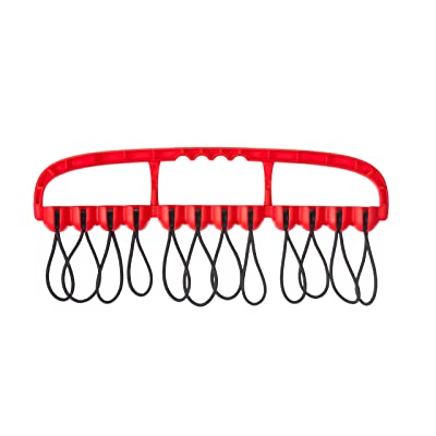 Cable Wrangler – 12 Heavy Duty Bungee Balls for Tools and Wire Management (Red): Home Audio & Theater