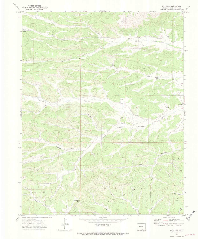 Amazon.com : YellowMaps Gulnare CO topo map, 1:24000 Scale ...