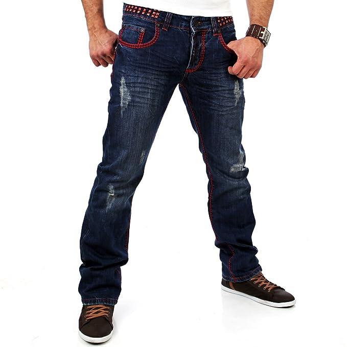 Tazzio Hombre - Pantalones Vaqueros TZ de 5143 Azul Azul 36 ...