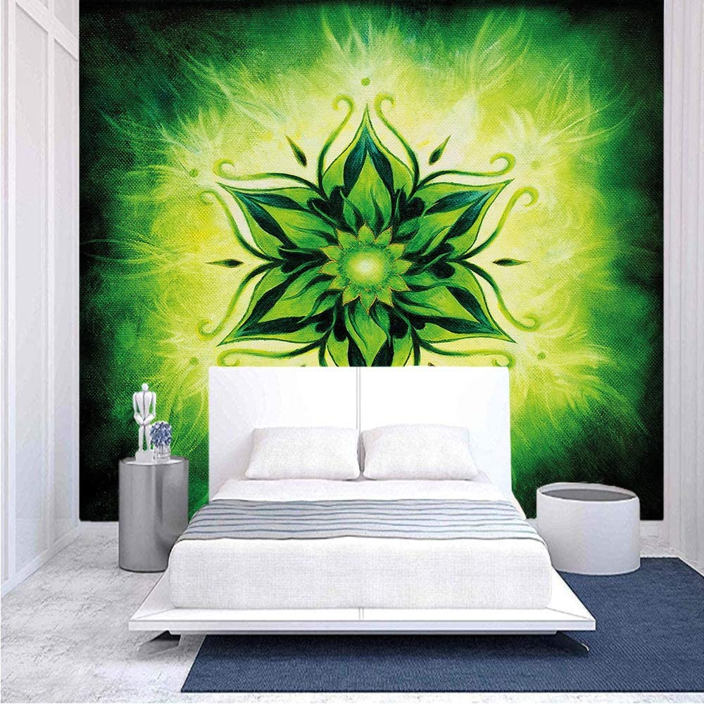 Amazon Com 96x69 Inches Wall Mural Psychedelic Floral Mandala Ethnic Meditation Mystic Sacred Digital Image Decorative Peel And Stick Self Adhesive Wallpaper Removable Large Wall Sticker Wall Decor For Home Offi Home Kitchen
