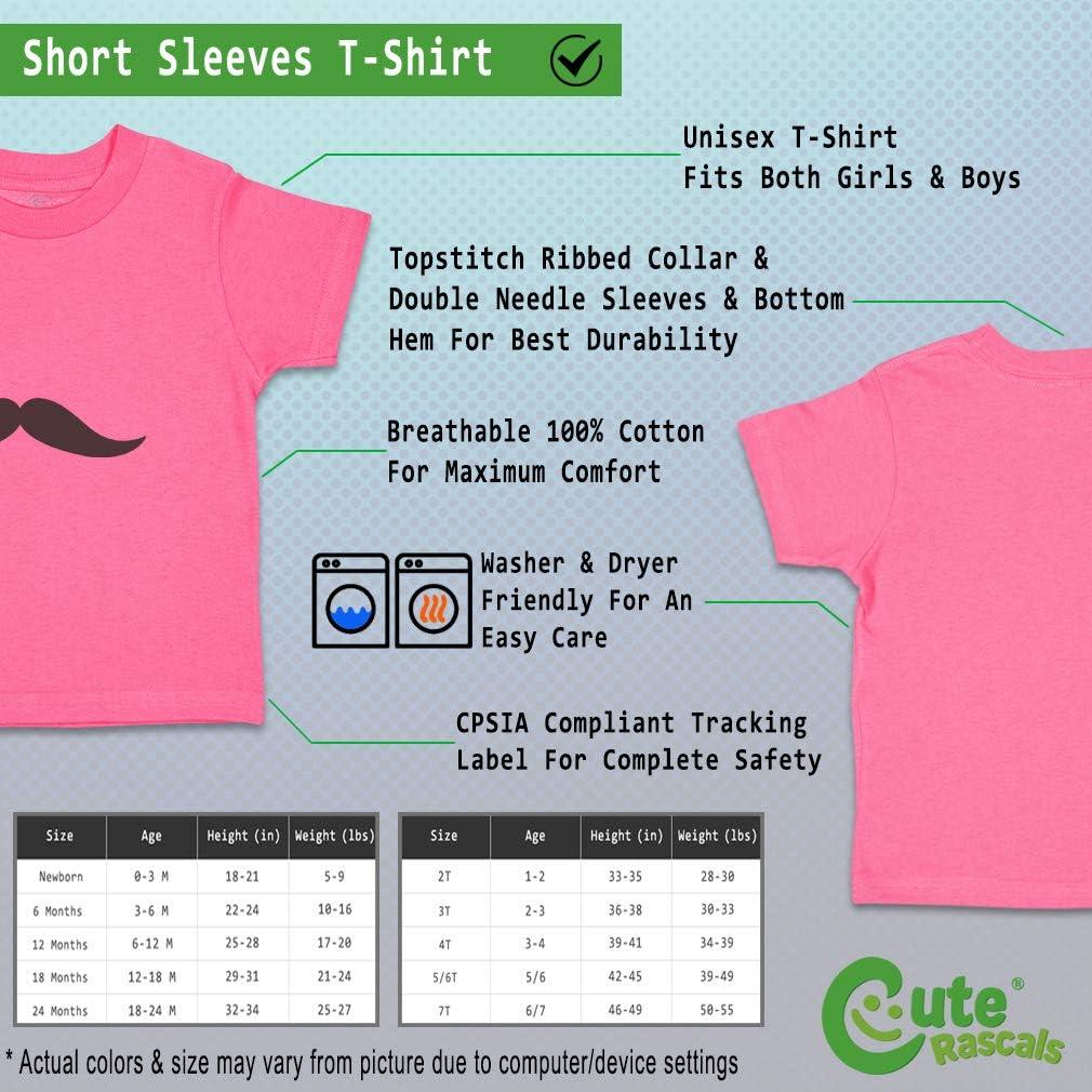 Custom Baby /& Toddler T-Shirt Black Mustache 22 Cotton Boy Girl Clothes