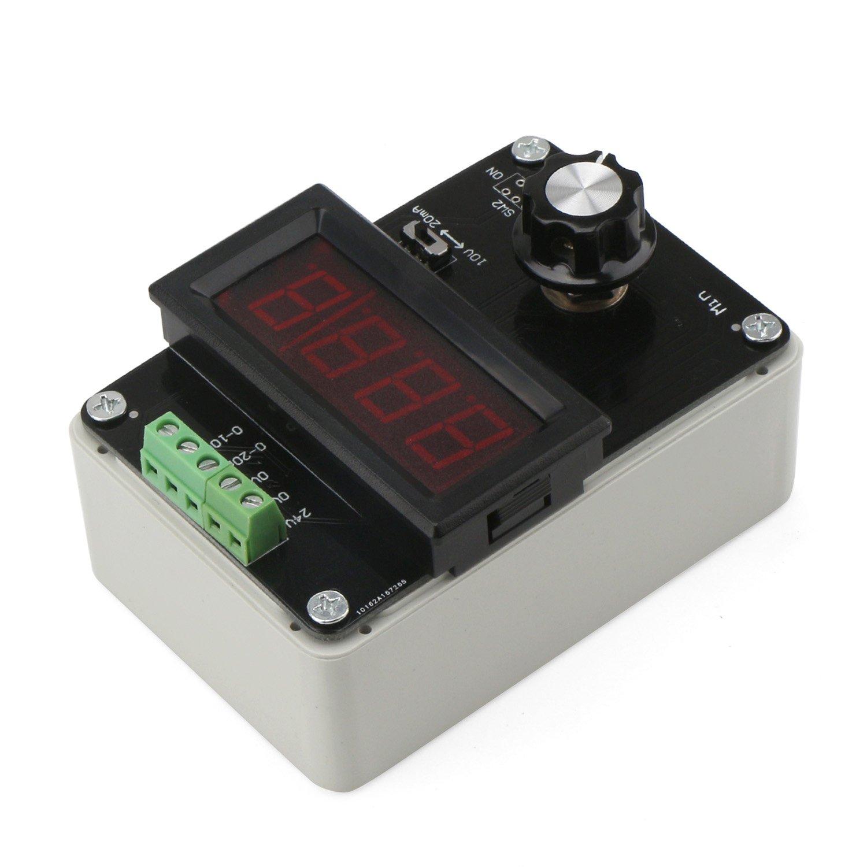 0-10V Generatore di Segnale Alimentazione 4-20mA Tensione di Corrente Regolabile Numero analogico per Generazione Segnale//Regolazione valvola//Controllo Inverter Droking DC 24V 0-20mA