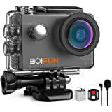 BOIFUN 4K 20 MP cámara web modo PC antivibración bajo el agua acción deporte cámara Wi-Fi con micrófono externo…