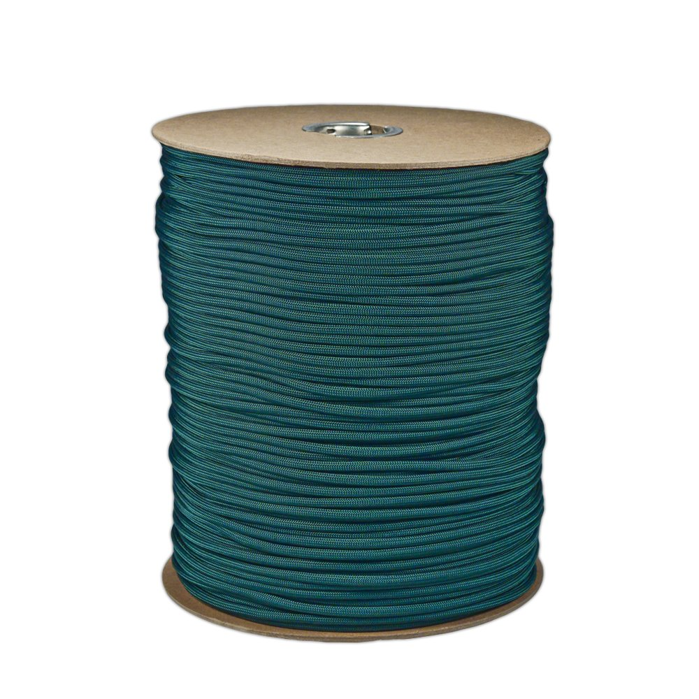 Paracord Planet Brand Nylon 550lb Type III Commercial Grade 7 Strand Paracord Made in USA 1000 Ft Spools (Dark Green)