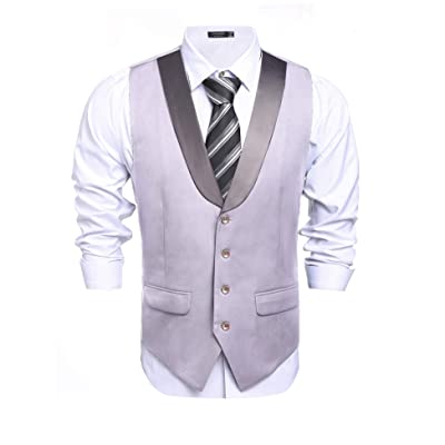 COOFANDY Men's Business Suit Vest Slim Fit Casual Skinny Dress Waistcoat for Graduation Party Wedding at Amazon Men's Clothing store