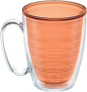 Tervis Clear & Colorful Insulated Tumbler, 16oz Mug - Tritan, Citrus Sunrise