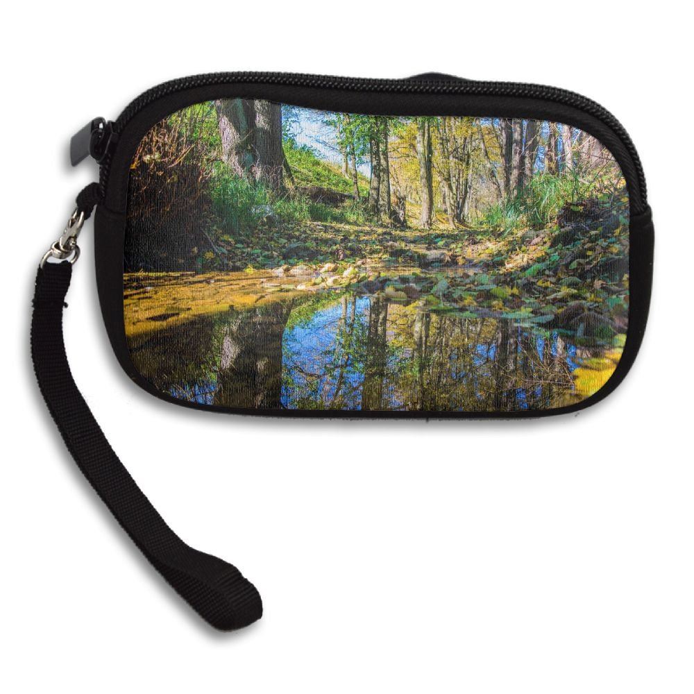 Nature Trees Water Reflection Landscape Deluxe Printing Small Purse Portable Receiving Bag