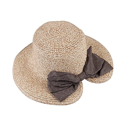 c0c630b50b2 Image Unavailable. Image not available for. Color  Newest trent Sun Hat Cute  Wide Brim Fashion Packable Women Floppy Summer Beach Straw Hats