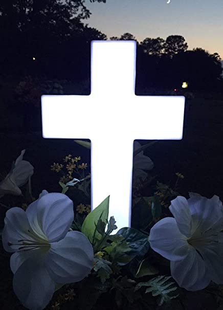 Amazon Com Eternal Light Cross Solar Powered Cemetery Grave