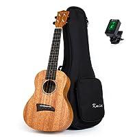 Kmise Concert Ukulele Professional Solid Mahogany Ukelele Uke Hawaii Guitar 23 inch 18 fret with Gig Bag Case Tuner