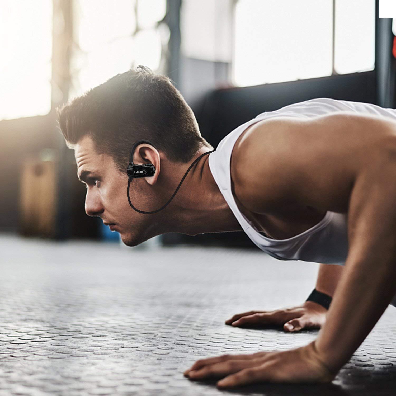 Laud Sports Bluetooth Wireless Sweat-Proof in-Ear Earphones for Smartphones – Black