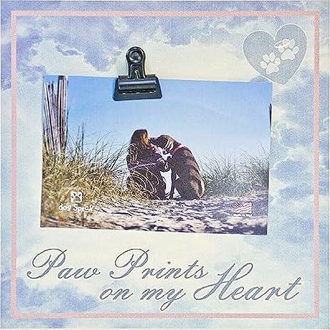 Amazon.com - PET DOG or CAT Photo Clip Frame ~ Paw Prints on My ...