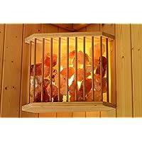 Karibu sauna de sal para lámpara de techo