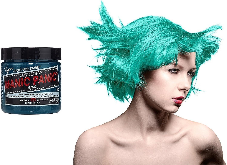 Manic Panic - Tinte de pelo, 118 ml, color azul sirena: Amazon ...