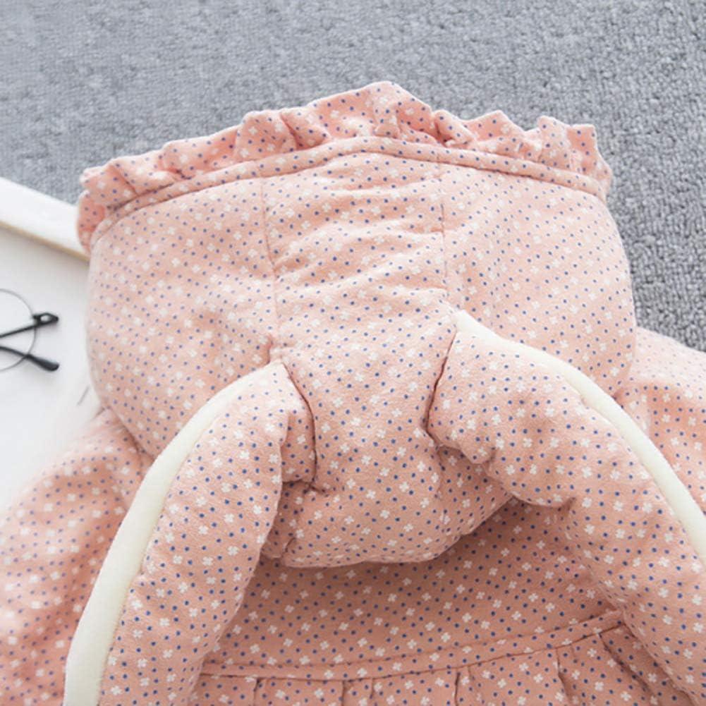 Baywell Baby M/ädchen M/äntel Dicke Warme Kleidung Kleinkind R/üschen Kapuzenjacke