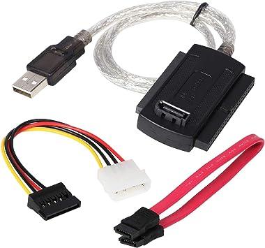 DIGIFLEX Cable conector adaptador SATA IDE 2.5, 3.5 a USB para disco duro HDD PC -SATA,