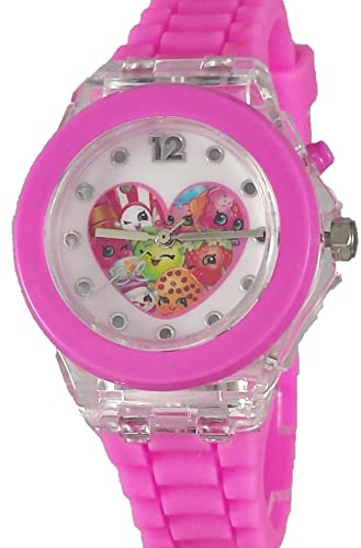 Shopkins Girl Rosa de reloj digital con función de Light Up kin9004: Amazon.es: Relojes