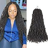 New Faux Locs 24 Inch Crochet Hair 6 Packs Natural Crochet Braids 100% Premium Fiber (24'' 6Pcs 2#)