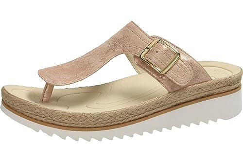 2018 shoes good looking wholesale dealer Gabor Damenschuhe 63.726.60 Damen Zehentrenner, Sandalen, Sandaletten, mit  verbreiterter Auftrittsfläche