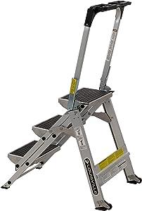 Louisville ladder 3-Foot Step Stool, 300-Pound Capacity L-2011-03 Stocking stepstool, 3-feet, Silver