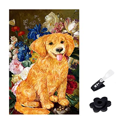 Genial Shmbada Golden Retriever Dog Garden Flag, Premium Double Sided, Outdoor  Home Decorative Yard Flags
