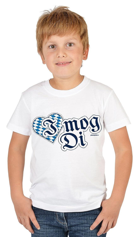 Lustige Bayrische Sprüche Kinder T-Shirt Volksfest: I mog Di -- Mundart bayrischer Dialekt Kindershirt