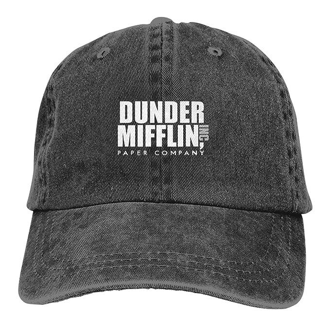 Baseball Cap Gorras para Hombres Dad Cap Polo Hat Gorras De Mujer Dunder Mifflin Casquette Black