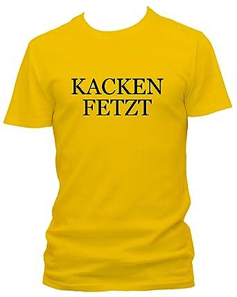Kacken Fetzt Fun Witzig Spruch Sprüche T Shirt: Amazon.de: Bekleidung