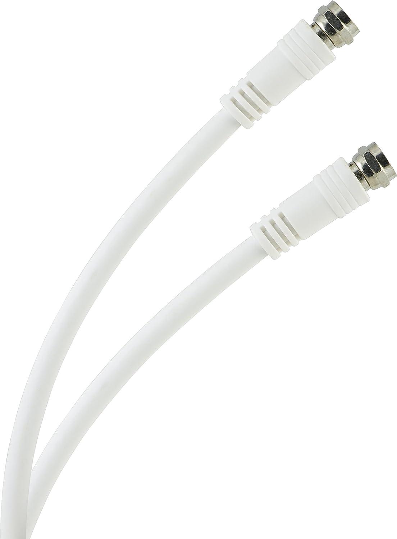 GE 73311 15-Feet RG6 Video Cable, White Jasco