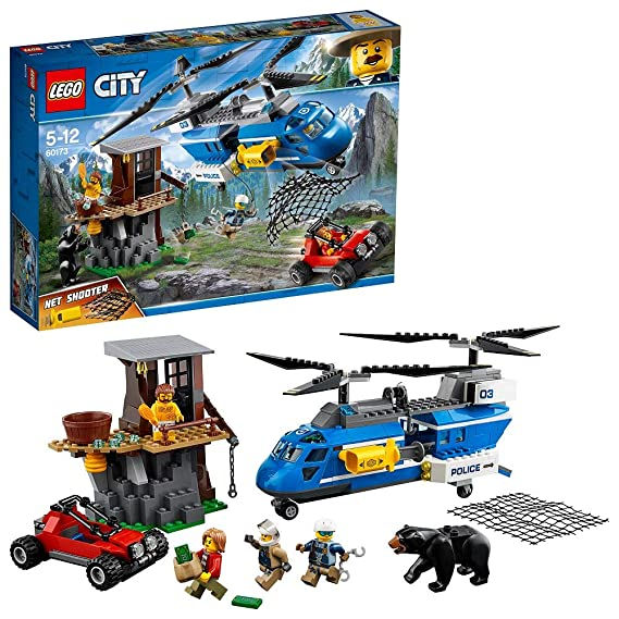 LEGO City Police Mountain Arrest Building Blocks for Kids 5 to 12 Years ( 303 Pcs) 60173 Model Building Tool Kits at amazon
