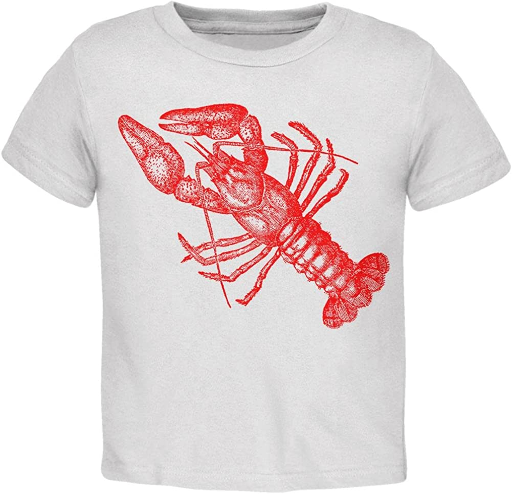 Old Glory Lobster crustacean copperplate Toddler T Shirt